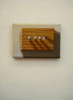 Juan Reos - Clavos y madera - Óleo sobre tela - 13x18cm - 2013