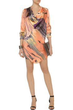 Elizabeth and JamesCarly printed silk mini dressfront