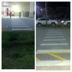 Pedestrian cross with no ramp...???