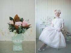 pastel 50s wedding inspiration