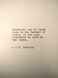 J.K. Rowling Handtyped Quote #AD #quotes