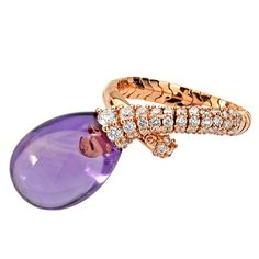 Chantecler of Capri Amethyst and Diamond Ring