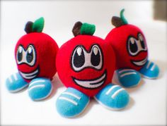 Meet Ap'Zal Bottumz! He's an apple scented plush toy / air freshener just waiting to freshen up your day. Best of all, he's only $4.99! #positivity #apple #plushies