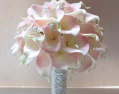 Ivory Calla Lily bouquet Bridal Bouquet wedding by LoveMimosaFleur