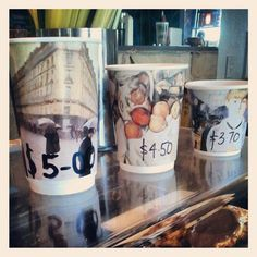 The take away coffee cups at Cafe De Oro. #ballarat