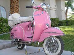vespa I have always wanted my own vespa.now I want this pink vespa. Motos Vespa, Vespa Scooters, Apex Scooters, Mobility Scooters, Motor Scooters, Rosa Vespa, Pink Love, Pretty In Pink, Pink Vespa