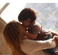 Motherhood is her top priority: The star Shakira spent Mother's Day being smothered by kisses from her adorable 15-month-old son Milan Pique