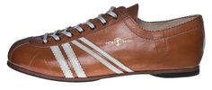 Zeha Berlin - CLUB - Sneaker - vintage   813. 24 - cognac - cuoio - whisky - the DDR inspired 100 % leather sneaker - made in EU