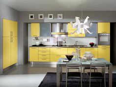 Kitchen Cabinets Yellow Paint Contemporary
