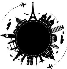 World Travel Drawing Illustrations Hight Light, Shoulder Tattoos For Women, Travel Drawing, Instagram Highlight Icons, Stencils, Around The Worlds, Stickers, Wallpaper, Drawings