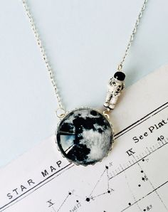 Moonwalk Outta Here Moon Necklace — Eclectic Eccentricity Vintage Jewellery