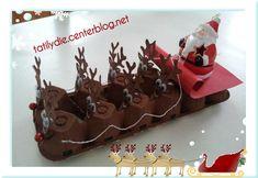 Le traîneau du Père-Noël !! Christmas Arts And Crafts, Preschool Christmas, Christmas And New Year, Preschool Crafts, Kids Christmas, Holiday Crafts, Christmas Decorations, Christmas Crafs, Egg Carton Crafts