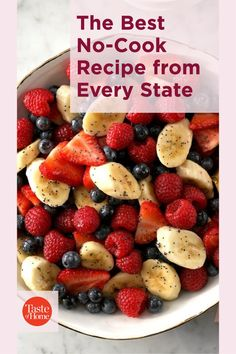 Eat your way across the country—no cooking required! Summer Desserts, Fun Desserts, Dessert Recipes, No Cook Appetizers, Banana Split, Kabobs, Chocolate Peanut Butter, Cherry Tomatoes, Salad Recipes