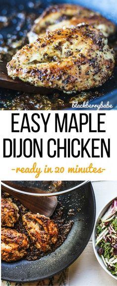 Easy Maple Dijon Chicken | 21 Day Fix Friendly Recipe | Maple Chicken | Dijon Chicken | Skillet Chicken Breast | Healthy Maple Chicken