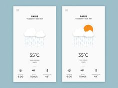 Weather App - Rain Screens