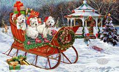 West Highland Terrier - Winter Wonderland -  by Margaret Sweeney