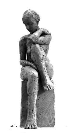 Carol Peace - Sitting Figure No 2 Human Sculpture, Sculptures Céramiques, Art Sculpture, Pottery Sculpture, Ceramic Sculptures, Figurative Kunst, Ceramic Sculpture Figurative, Ceramic Figures, Clay Figures
