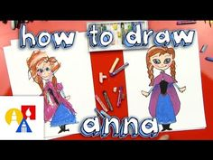 How To Draw Anna from Frozen (for young artists) - YouTube