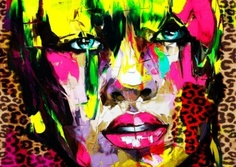 Françoise Nielly's colorful portrait painting Art Pop, Illustration Arte, Tableau Pop Art, Images D'art, Wall Art Pictures, Wall Photos, French Artists, Art Design, Love Art