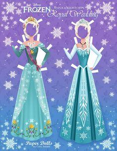 wedding Disney's Frozen Paper Dolls   SKGaleana