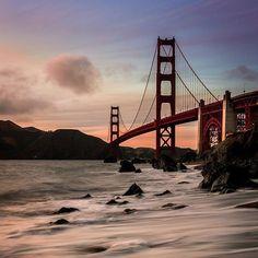 Ponte Golden Gate - 20 destinos mais compartilhados no Instagram;