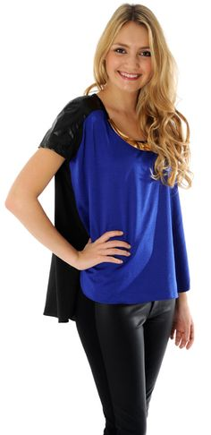 Stunning cobalt blue top from Selfish by Forever Unique with its metal detail make it super Sci-Fi chic - available at MyVioletHill.com!