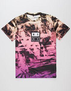 WAVY Vivid Print Mens T-Shirt Purple