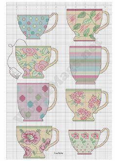 xicaras-de-chá-para-bordar-ponto-cruz-13 Xícaras de chá para bordar