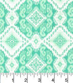 Snuggle Flannel Fabric-Ava Ice Green Aztec