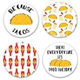 1.25 Inch Taco Pinback Button Badges Taco Ideas, Button Badge, Badges, Magnets, Best Gifts, Tacos, Handmade, Hand Made, Badge