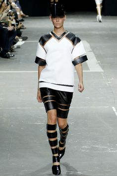 Love to see how he plays with sports silhouettes.  Alexander Wang Spring 2013