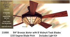 The mission style ceiling fan by casablanca has a beautiful light hunter ceiling fans aloadofball Image collections