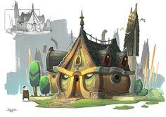Houses, Gao ZhiPing on ArtStation at https://www.artstation.com/artwork/V8KLR