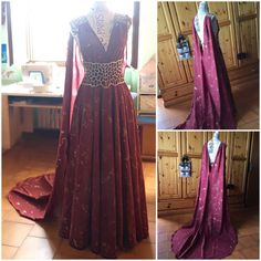 Hey, I found this really awesome Etsy listing at https://www.etsy.com/listing/399668599/game-of-thrones-qarth-burgundy-dress