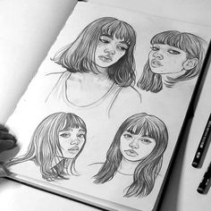 "▶ A little study sketchbook tour! By little I mean it's still not finished  This is one of my 3 sketchbooks where I usually make more ""detailed"" studies to help me learn, the other ones are a lot more messy!  I will be posting a lot of sketches and drawings on my Patreon account that I am working on right now! I'm super excited to share it with you all soon - you will be able to get a closer insight into my process and development and awesome rewards for your pledges."