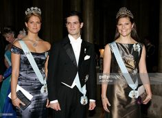Crown Princess Victoria, Princess Madeleine & Prince Carl Philip Of Sweden Attend A Gala Dinner For The Nobel Laureates At The Royal Palace In Stockholm.