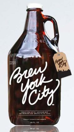 growler with tag #packaging #design
