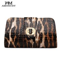 53.98$  Buy now - http://alid13.worldwells.pw/go.php?t=32353867077 - AMONCHY Brand Leopard Women's Clutches Chain Woman Shoulder Bag Fashion Leather Party Evening Bag Lady Messenger Crossbody Bags 53.98$