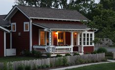 cottage plans, small house plans, cabin plans, small homes designed by Ross Chapin Little House Plans, Small House Plans, Tiny House Cabin, House With Porch, Tiny Houses, Cottage Plan, Cottage Living, Cottage House, Cottage Ideas