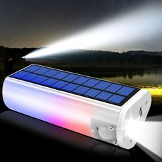 Multifunctional Solar Light 650lm Portable Solar Flashlights Torches Phone Charger