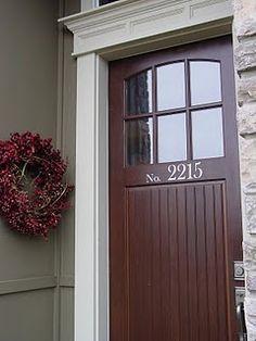 door and address