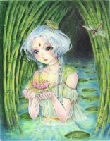 The goddess of the lake by Yumchaa