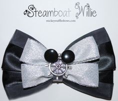 Steamboat Willie Hair Bow by MickeyWaffles on Etsy, $9.00