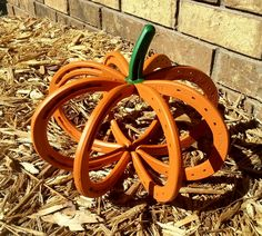 horseshoe pumpkin....so cute...not sure how it's held together?