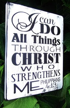 Christian Scripture Art Catholic I Can Do All Things Through Christ Who Strengthens Dining Room
