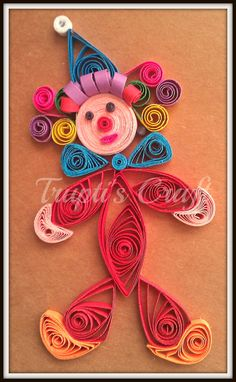 Trupti's Craft & Jewelry: Quilled Clown .... Thanks @Suganthi Mohan Mohan for the design.