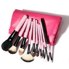 [grxjy5140003]10 Pcs Premium Makeup Brush Set Kit With Case