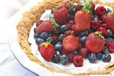 Yogurt Mixed Berry Pie (recipe from http://www.cookingontheside.com)