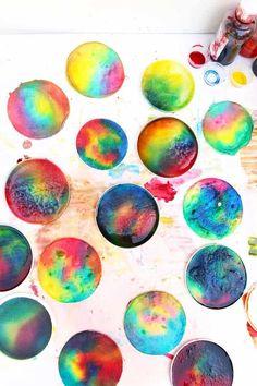 Process Art Idea: Salty Rainbows - Babble Dabble Do Rainbow Paper, Rainbow Crafts, Craft Projects For Kids, Art Projects, Project Ideas, Famous Artists For Kids, Babble Dabble Do, Easy Art For Kids, Sensory Art
