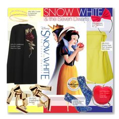"""""""Snow White and the Seven Dwarfs"""" by kusja ❤ liked on Polyvore featuring Dolce&Gabbana, Delpozo, Miu Miu, RED Valentino, women's clothing, women's fashion, women, female, woman and misses"""